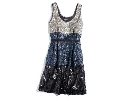 Madewell Color-Block Sequin Dress