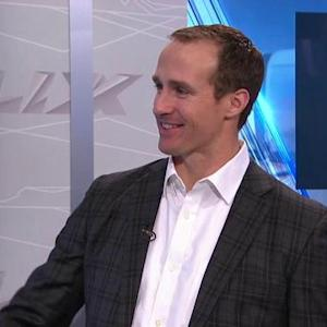 New Orleans Saints quarterback Drew Brees joins the social media command center