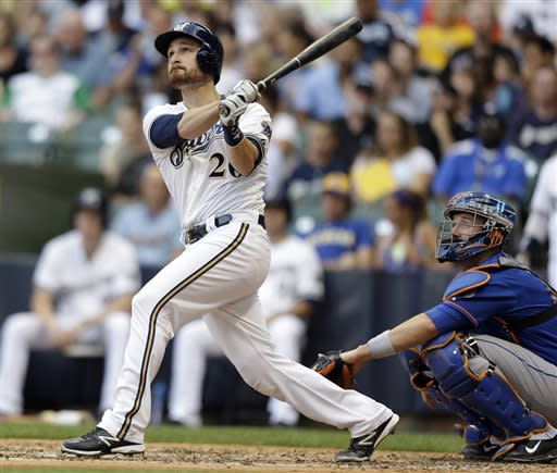 Lucroy, Gallardo lead Brewers past Mets, 7-6