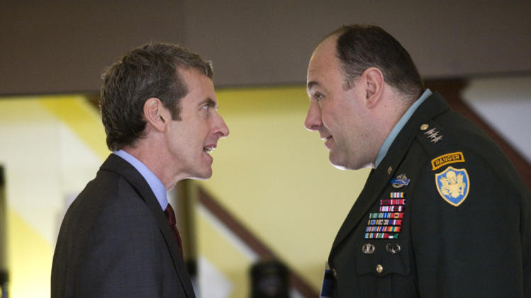 Peter Capaldi James Gandolfini In the Loop Production Stills IFC 2009