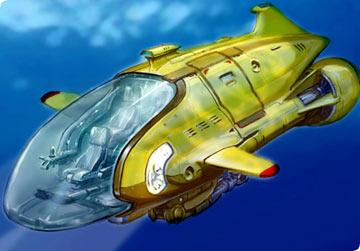 Early Thunderbird 4 concept design from Universal's Thunderbirds