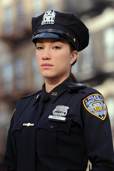 "Judy Marte stars as Officer Tonya Perez in ""NYC 22."""