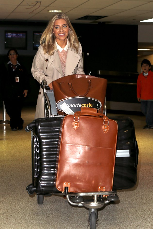 Mollie King arrives in LA