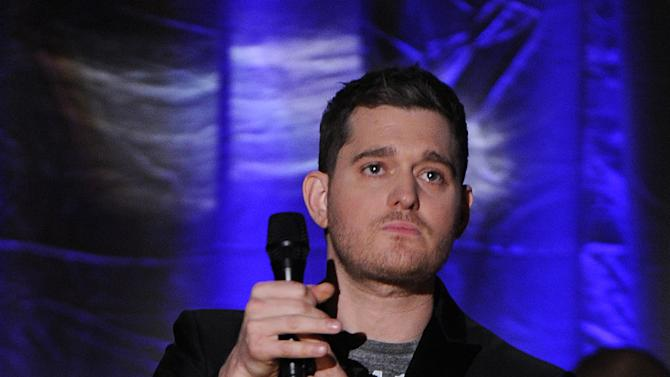 """IMAGE DISTRIBUTED FOR ACADEMY OF TELEVISION ARTS & SCIENCES - Singer Michael Buble performs at the Academy of Television Arts & Sciences Presents """"An Evening With Michael Buble"""" at the Wadsworth Theatre on Sunday, April 28, 2013 in Los Angeles, California. (Photo by Frank Micelotta/Invision for the Academy of Television Arts & Sciences/AP Images)"""