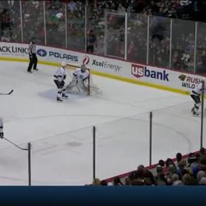 Matt Greene Hit on Erik Haula (08:35/2nd)