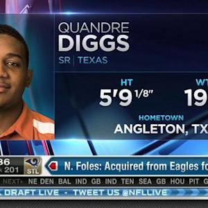 Detroit Lions pick cornerback Quandre Diggs No. 200 in 2015 NFL Draft