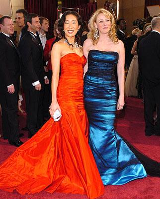 Sandra Oh and Virginia Madsen 77th Annual Academy Awards - Arrivals Hollywood, CA - 2/27/05