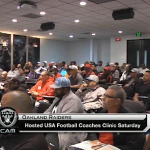 Oakland Raiders host USA football coaches clinic