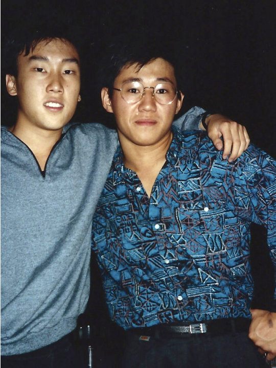 FILE - This 1988 file photo provided by Bobby Lee shows Kenneth Bae, right, and Lee together when they were freshmen students at the University of Oregon. Bae, detained for nearly six months in North 