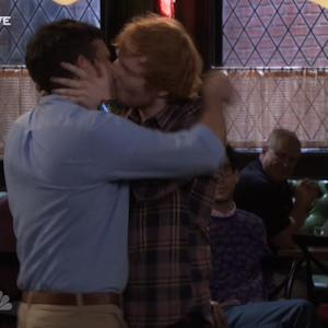 Ed Sheeran Surprises 'Undateable's Brent Morin with Kiss on Live Broadcast