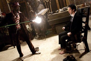 Djimon Hounsou and Keanu Reeves in Warner Bros. Pictures' Constantine