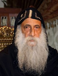 Father Rafael Ava Mina, 70, is one of three finalists chosen Monday for a new leader to succeed Pope Shenuda III in Egypt's Coptic Christian church
