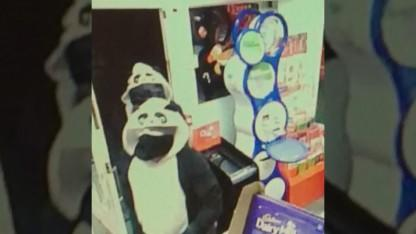 Armed Robbers Wearing Panda Onesies Hold Up Corner Store
