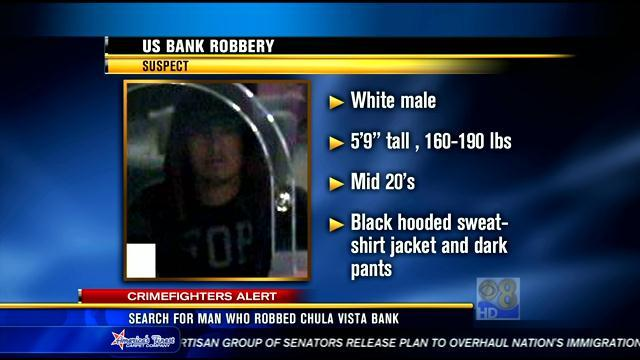 Search for man who robbed Chula Vista bank