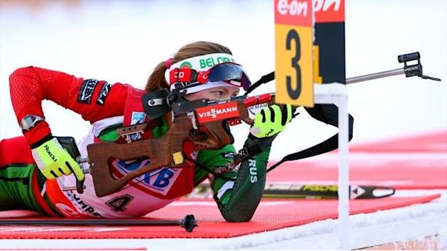 Biathlon - Domracheva wins in Sochi, Berger takes Crystal Globe