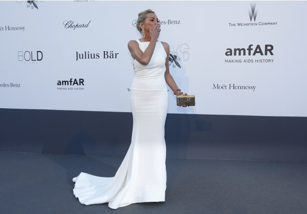 Actress Stone arrives for amfAR's Cinema Against AIDS 2013 event in Antibes during the 66th Cannes Film Festival
