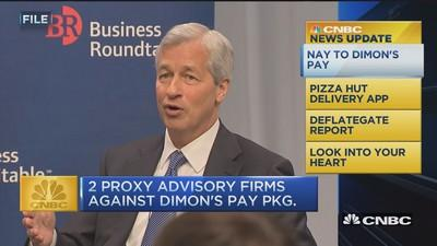 CNBC update: Nay to Dimon's pay
