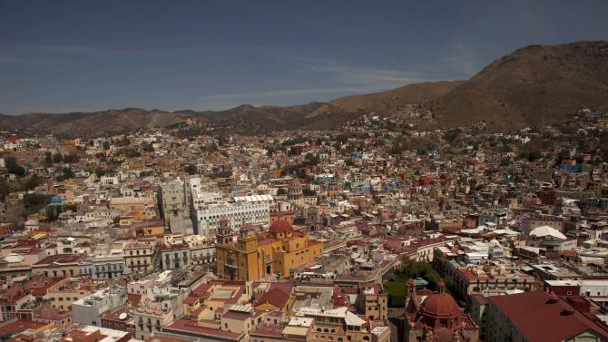 This Friday, March 2, 2012 photo shows the colonial city of Guanajuato, Mexico. It is the cradle of Mexican independence, a city with underground passageways and narrow winding streets that resemble medieval Europe. Guanajuato, where the pope will visit, is one of the most picturesque places in Mexico. (AP Photo/Dario Lopez-Mills)