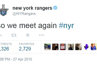 the new york rangers twitter account has banned 'capitals'
