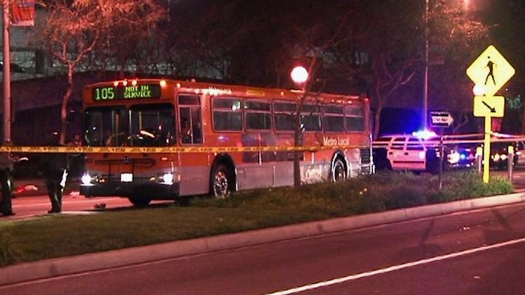 MTA bus hits 2 pedestrians in West Hollywood; 1 killed
