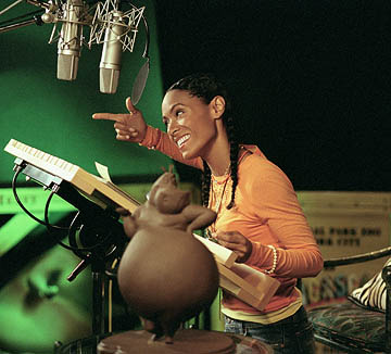 Jada Pinkett-Smith voices Gloria the Hippo in Dreamworks' Madagascar