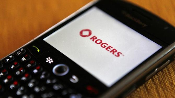 A Blackberry smartphone on the Rogers wireless network is seen in Montreal
