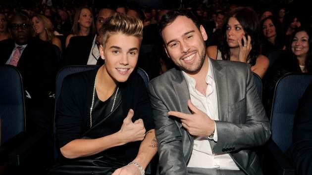 Justin Bieber, Scooter Braun -- Getty Images