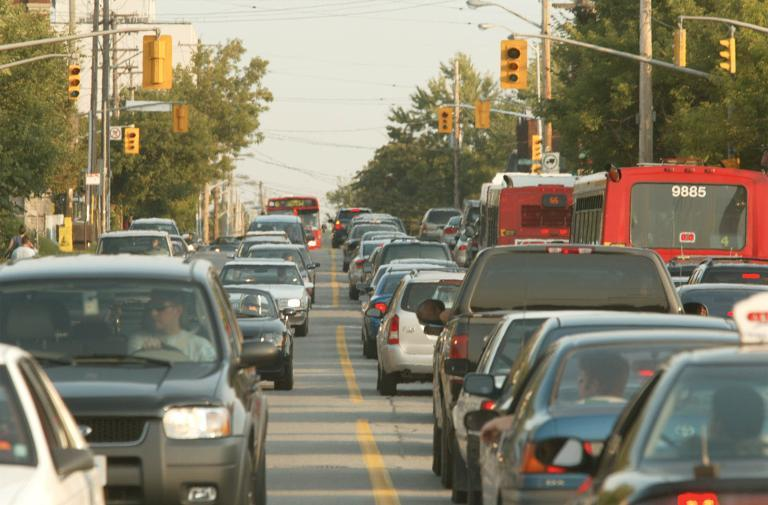 Traffic in Ottawa, Canada on August 14, 2003