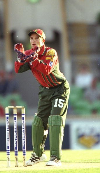 16 Jan 1998:  Mark Boucher of South Africa in action during a One Day match against New Zealand in Perth, Australia. &amp;#92; Mandatory Credit: Ben  Radford/Allsport