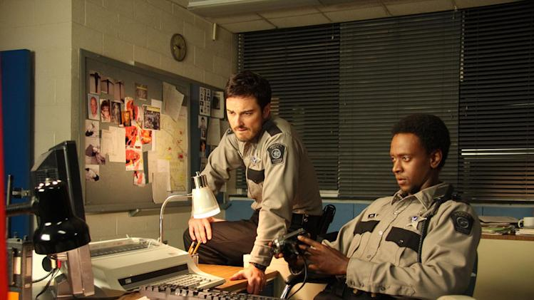 Kerr Smith Edi Gathegi My Bloody Valentine 3D Production Stills Lionsgate 2009