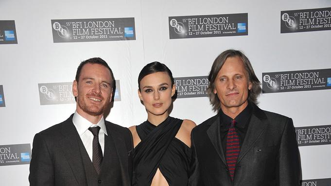 55th Annual London BFI Film Festival 2011 Michael Fassbender Keira Knightley Viggo Mortensen