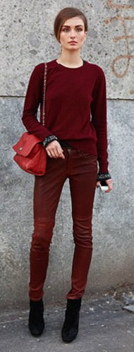 Top 13 Denim Trends For Fall 2012 Maroon