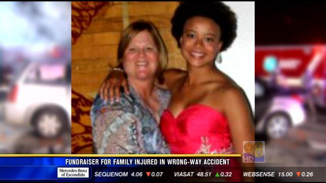 Fundraiser for family injured in wrong-way accident