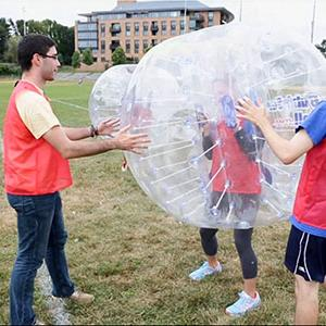 Boston Soccer Fans Fall for Bubbleball