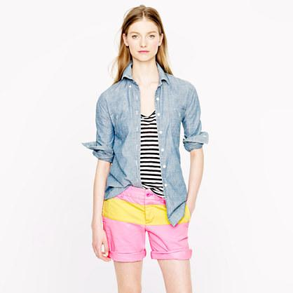 Broken-In Boyfriend Chino Short in Colorblock, $59.50