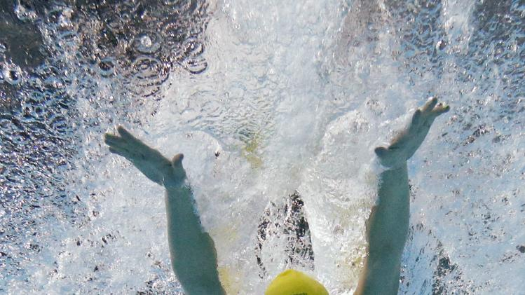 Groves of Australia is seen underwater as she swims in the women's 200m Butterfly final during the 2014 Commonwealth Games in Glasgow