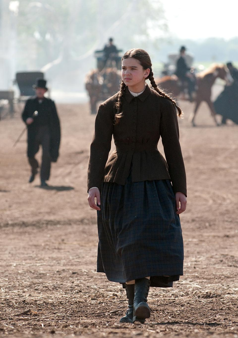 "In this film publicity image released by Paramount Pictures, Hailee Steinfeld is shown in a scene from, ""True Grit."" (AP Photo/Paramount Pictures, Wilson Webb)"
