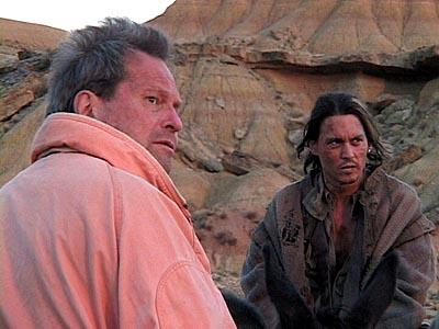 Terry Gilliam and Johnny Depp in IFC Films' Lost In La Mancha