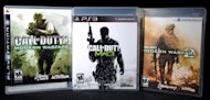 A copy of &quot;Call of Duty: Modern Warfare 3&quot; is displayed between its predecessors, &quot;Call of Duty 4: Modern Warfare&quot; (L) and Call of Duty: Modern Warfare 2&quot; (R) in 2011. A free version of the blockbuster video game &quot;Call of Duty&quot; will be offered to players in China, the developers said Tuesday