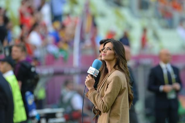 Spanish Television Presenter And Girlfriend Of Spain's Goalkeeper Iker Casillas, Sara Carbonero Looks AFP/Getty Images