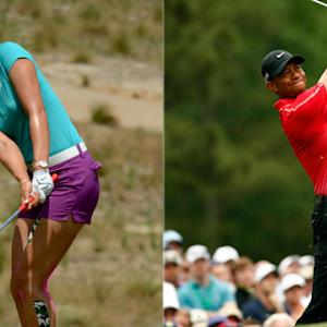 Tiger Woods, Michelle Wie make waves even when they don't play