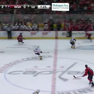Tom Wilson Hit on Seth Jones (12:35/1st)