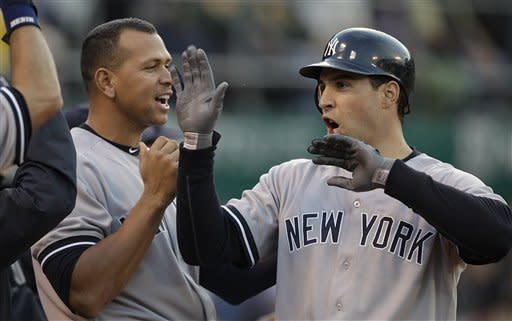 Yankees play long ball to beat Athletics 6-3