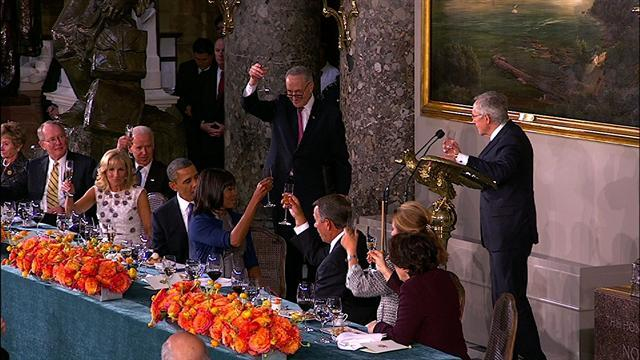 "Reid toasts ""four more successful years of Barack Obama"""