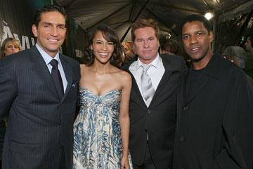Jim Caviezel , Paula Patton , Val Kilmer and Denzel Washington at the New York premiere of Touchstone Pictures' Deja Vu