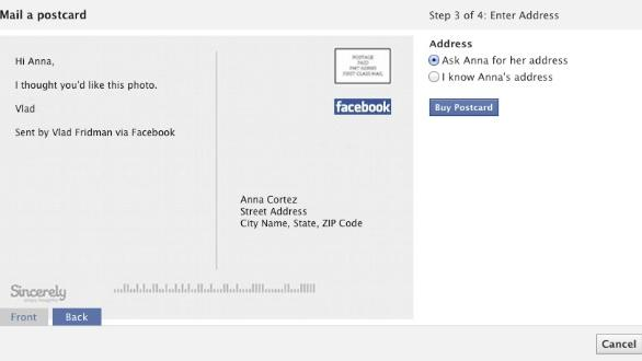New Facebook Feature Lets You Send Photos as Real Postcards
