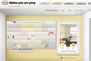 The Virtual + Visual: Paint Your Home Online image glidden