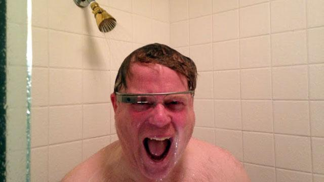 Google Glass Takes On Shower Test