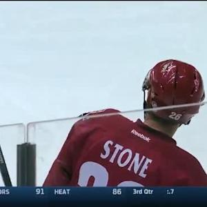 Michael Stone Goal on Reto Berra (10:20/1st)