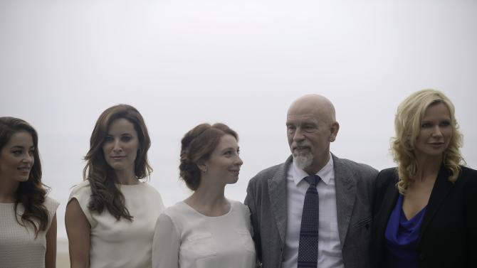 """Actor Malkovich takes part in a photo call alongside fellow cast members as they promote the film """"The Casanova Variations"""" during the 62nd San Sebastian Film Festival"""